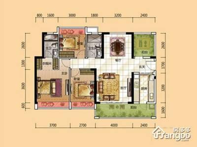 出售龙光城3室2厅2卫120平米180万住宅